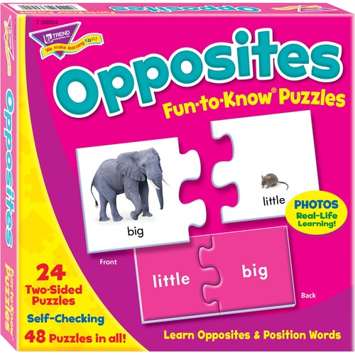 Trend Fun-to-Know Opposites Puzzles - 3+48 Piece