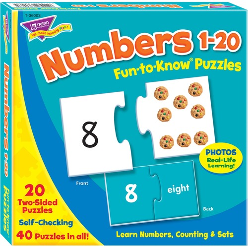"""Trend Fun-to-Know 3"""" Numbers Puzzles - Theme/Subject: Learning - 3+40 Piece"""