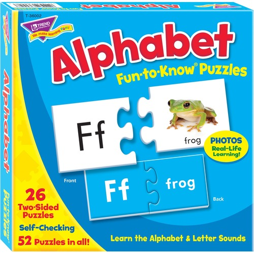 Trend Alphabet Fun-to-Know Puzzles - 3+52 Piece