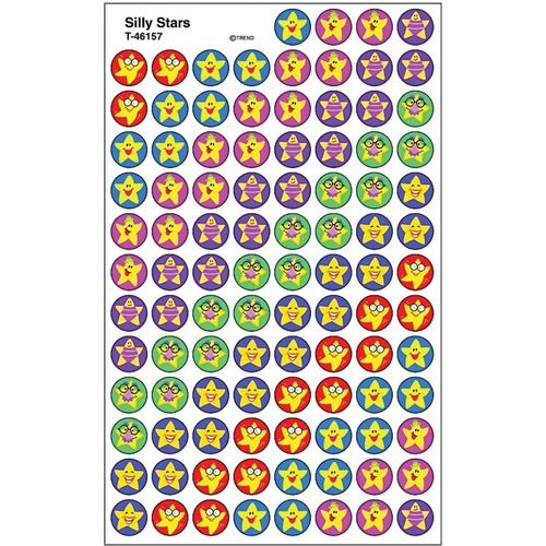 Trend Silly Stars - Encouragement, Sports Theme/Subject - Self-adhesive - Acid-free, Non-toxic, Photo-safe - 800