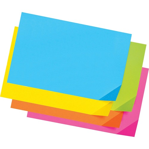 """Pacon Super Bright Tagboard - Sign, Poster, Art, ClassRoom Project - 100 Piece(s) - 12"""" (304.80 mm)Width x 18"""" (457.20 mm)Length - 100 / Pack - Bright Pink, Bright Orange, Bright Lime, Bright Yellow, Bright Blue"""