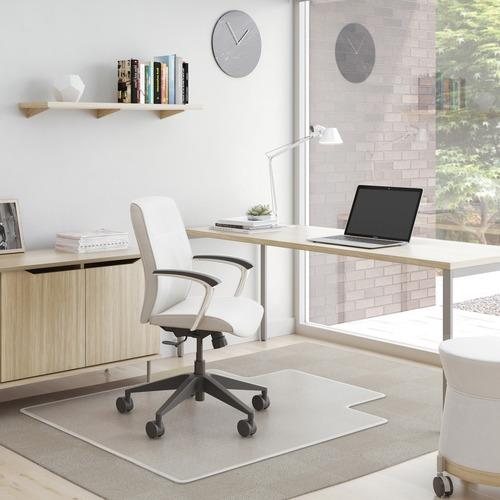 "Deflecto SuperMat for Carpet - Carpet, Indoor - 48"" Length x 36"" Width - Lip Size 10"" Length x 19"" Width - Rectangle - Clear"
