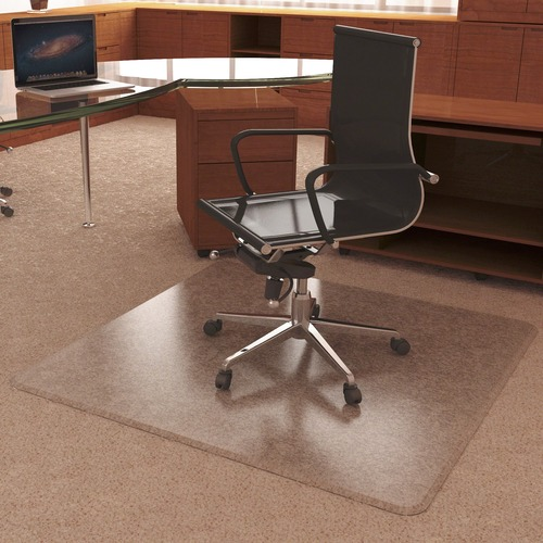 "Deflecto UltraMat for Carpet - Carpeted Floor - 60"" Length x 46"" Width - Vinyl - Clear"