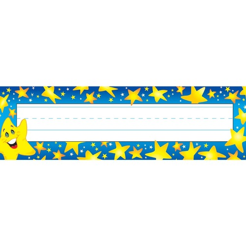 """Trend Super Stars Desk Toppers Name Plates - 9 1/2"""" Width x 2 7/8"""" Length - Rectangle - 36 Total Label(s) - 36 / Pack"""