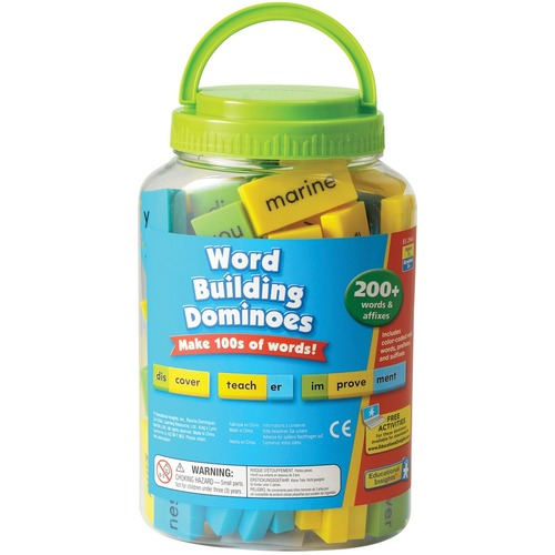 Educational Insights Word Building Dominoes - Skill Learning: Word Building, Color, Prefix, Suffix - 6 Year & Up