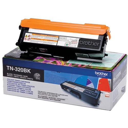 Brother TN320BK Toner Cartridge - Black