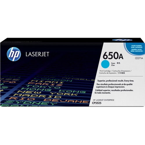 HP 650A Toner Cartridge - Cyan