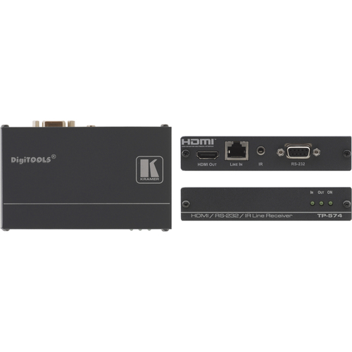 HDMI BIDIRECT RS-232 & IR OVER TWISTED PAIR RECEIV
