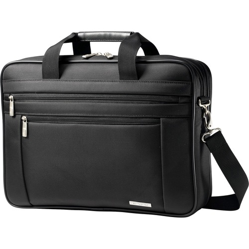 "Business Laptop Briefcase, 17-3/4""x4-1/2""x12-1/2"", Black"