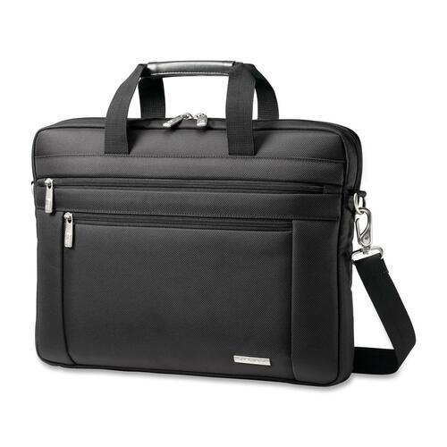 "Classic Laptop Slim Briefcase, 16""x2""x12"", Black"