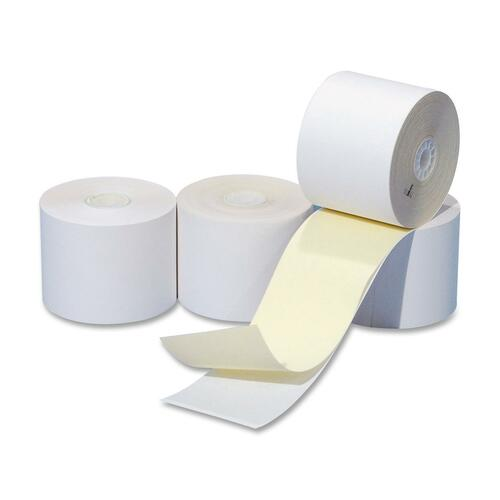 """NCR 845919 Direct Thermal Receipt Paper - White, Canary - 3"""" x 95 ft - 50 / Box"""