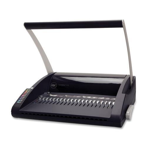 """GBC C12 Binding Machine - 7.10"""" (180.34 mm) x 17.87"""" (453.90 mm) x 16.50"""" (419.10 mm) - Black, Silver"""