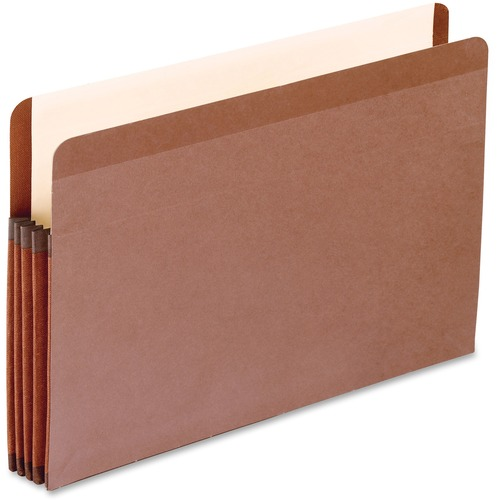 """Pendaflex Legal Recycled Expanding File - 8 1/2"""" x 14"""" - 3 1/2"""" Expansion - Red Fiber - Redrope - 10% Recycled - 1 Each"""