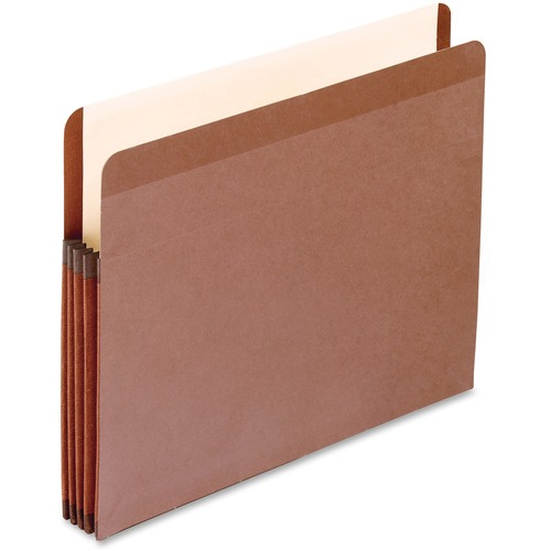 """Pendaflex Letter Recycled Expanding File - 8 1/2"""" x 11"""" - 3 1/2"""" Expansion - Red Fiber - Redrope - 10% Recycled - 1 Each"""