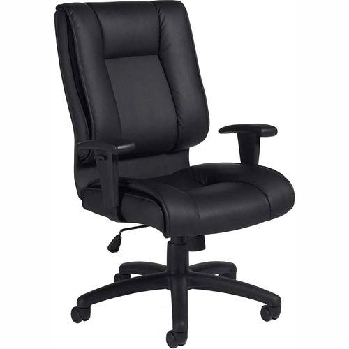 Offices To Go Ashmont High Back Tilter with T Arms - Black Leather Seat - 5-star Base