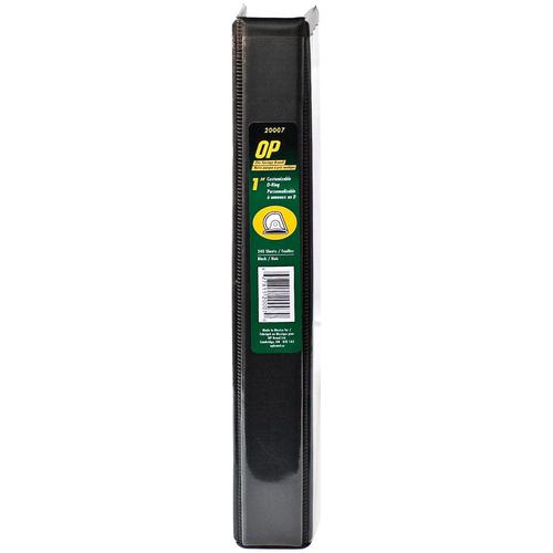 "OP Brand D-Ring Customizable Binder - Letter - 8-1/2"" x 11"" Sheet Size - D Ring Fastener - 1"" (25.4mm) Binder Fastener Capacity - Black - 12/box"
