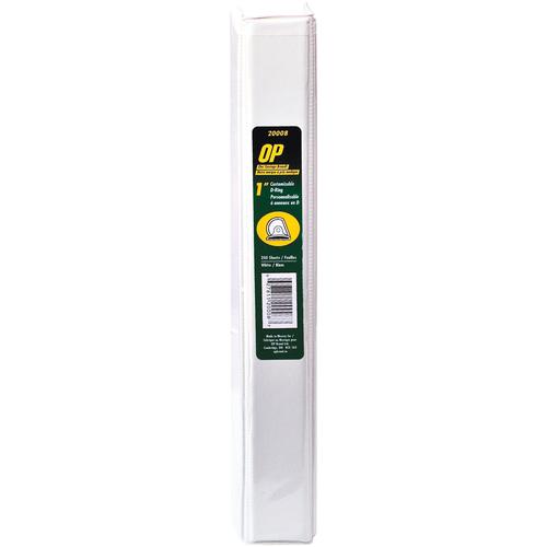 "OP Brand D-Ring Customizable Binder - Letter - 8-1/2"" x 11"" Sheet Size - D Ring Fastener - 1"" (25.4mm) Binder Fastener Capacity - White - 12/box"