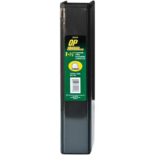 "OP Brand D-Ring Customizable Binder - Letter - 8-1/2"" x 11"" Sheet Size - D Ring Fastener - 1.5"" (38.1mm) Binder Fastener Capacity - Black - 12/box"