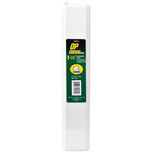"OP Brand D-Ring Customizable Binder - Letter - 8-1/2"" x 11"" Sheet Size - D Ring Fastener - 1.5"" (38.1mm) Binder Fastener Capacity - White - 12/box"