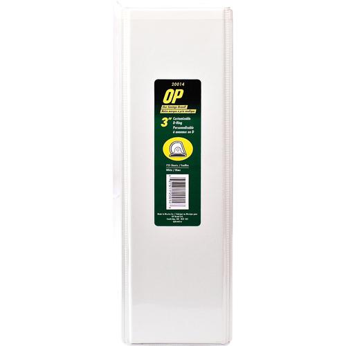 "OP Brand D-Ring Customizable Binder - Letter - 8-1/2"" x 11"" Sheet Size - D Ring Fastener - 3"" (76.2mm) Binder Fastener Capacity - White - 6/box"