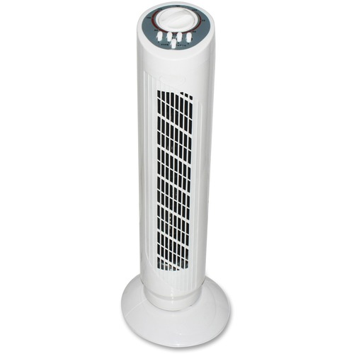 """Royal Sovereign 30"""" tower fan - 30"""" Diameter - 3 Speed - Oscillating, Space Saving, Quiet, Carrying Handle, Timer-off Function - 23.10"""" (586.74 mm) Height x 30"""" (762 mm) Width - White"""