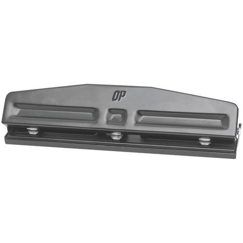 """OP Brand Adjustable Punch - 3 Punch Head(s) - 16 Sheet - 9/32"""" Punch Size"""