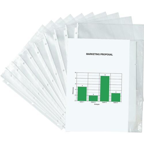 "OP Brand Sheet Protector - Letter 8.5"" x 11"" - Polypropylene - 100 / Box - Clear"