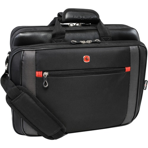 """Holiday SWA0586L Carrying Case for 17"""" Notebook - Black - Handle, Shoulder Strap - 14"""" (355.60 mm) Height x 17.75"""" (450.85 mm) Width x 2.75"""" (69.85 mm) Depth - 1 Pack"""