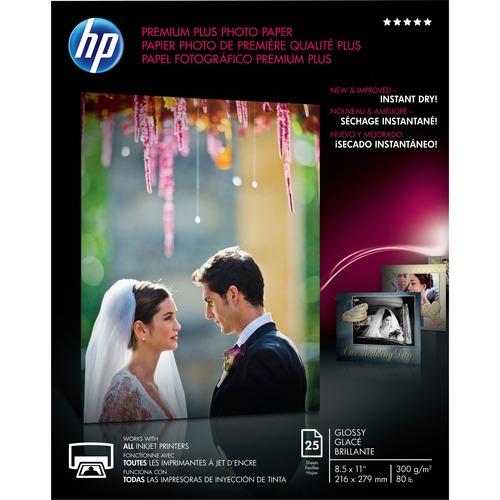 HP PREM PLUS 8.5X11 GLS25 SHT PHOTO PAPR
