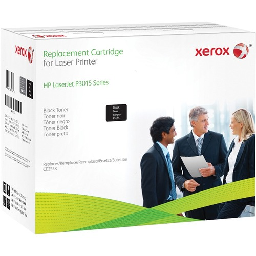 Black toner cartridge. Equivalent to HP CE255X. Compatible with HP LaserJet M525