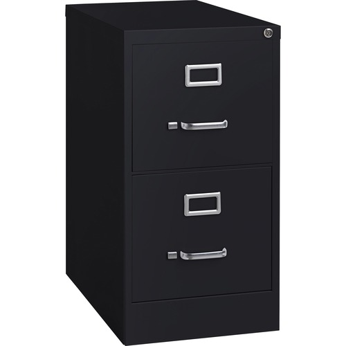 "Lorell Commercial-grade Vertical File - 2-Drawer - 15"" x 22"" x 28.4"" - 2 x Drawer(s) for File - Letter - Lockable, Ball-bearing Suspension - Black - R"
