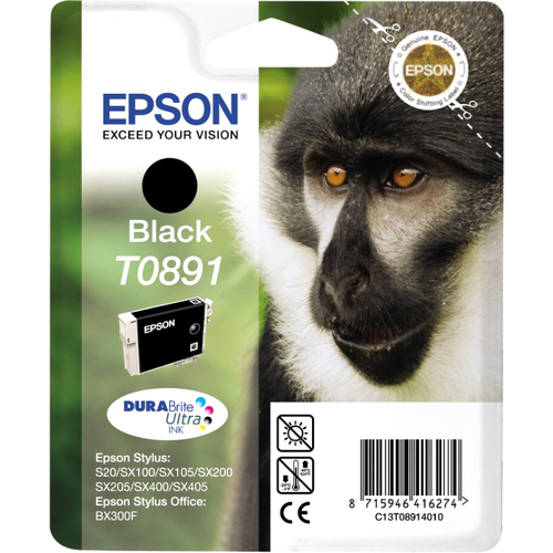 Epson DURABrite Ultra T0891 Ink Cartridge - Black