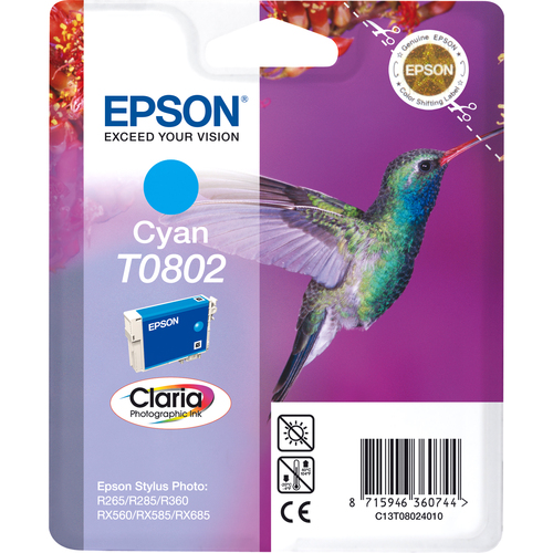 Epson Claria T0802 Ink Cartridge - Cyan