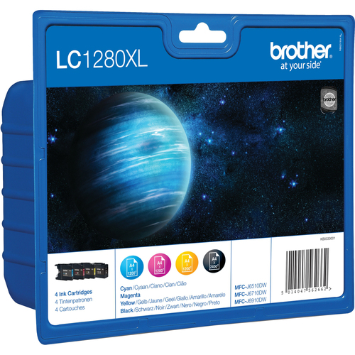 Brother LC1280XLVALBP Ink Cartridge - Cyan, Magenta, Yellow, Black
