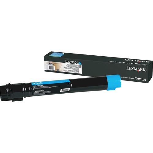 Lexmark X950X2CG Toner Cartridge - Cyan