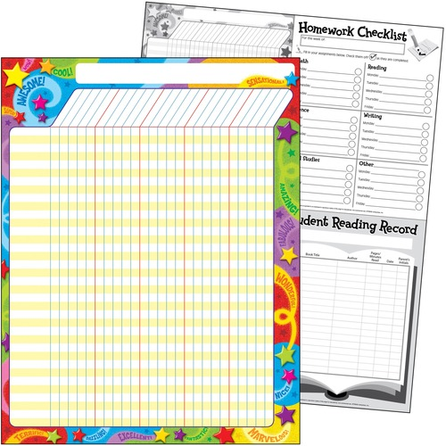 Trend Praise Words 'n Stars Incentive Chart - Large - Theme/Subject: Learning - Skill Learning: Goal - 1 Each