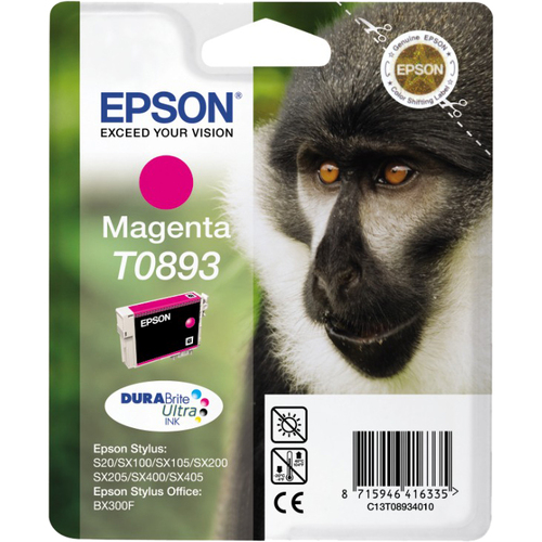 Epson DURABrite Ultra T0893 Ink Cartridge - Magenta