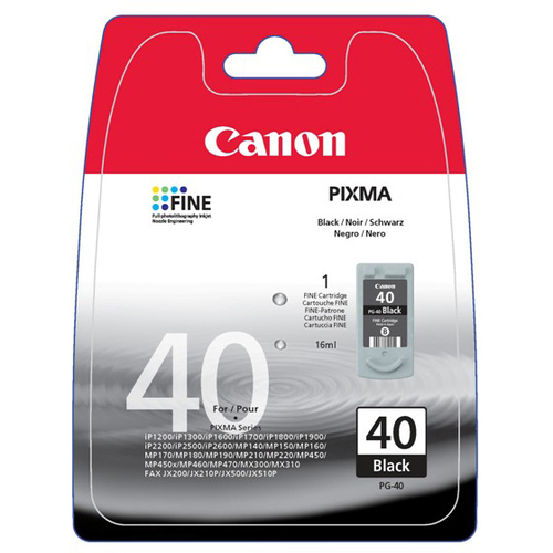 Canon PG-40 Ink Cartridge - Black
