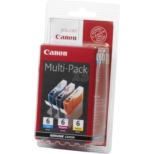 Canon BCI-6 C/M/Y Ink Cartridge - Cyan, Magenta, Yellow