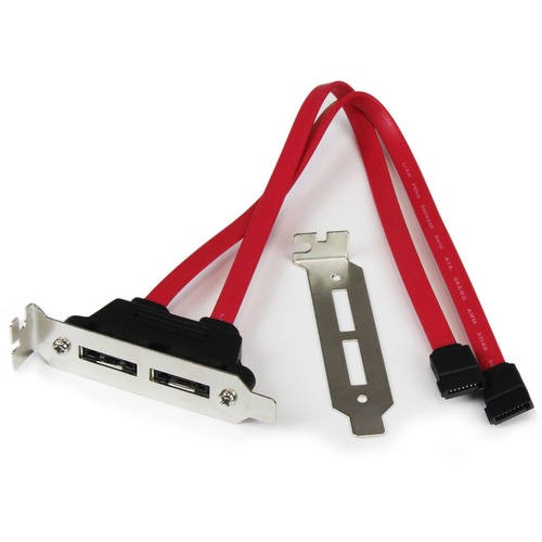 StarTech.com 2 Port Low Profile SATA to eSATA Plate Adapter - SATA for Hard Drive - 1 x SATA - 1eSATA