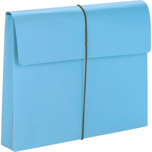 """Smead Letter Recycled File Wallet - 8 1/2"""" x 11"""" - 2"""" Expansion - 1 Pocket(s) - Blue - 10% Recycled - 10 / Box"""