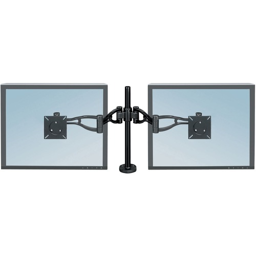Fellowes Professional Series Depth Adjustable Dual Monitor Arm - Yes - 2 Display(s) Supported - 10.89 kg Load Capacity - 1 Each