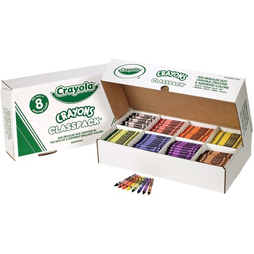 Crayola Classpack Crayon - Assorted - 800 / Box