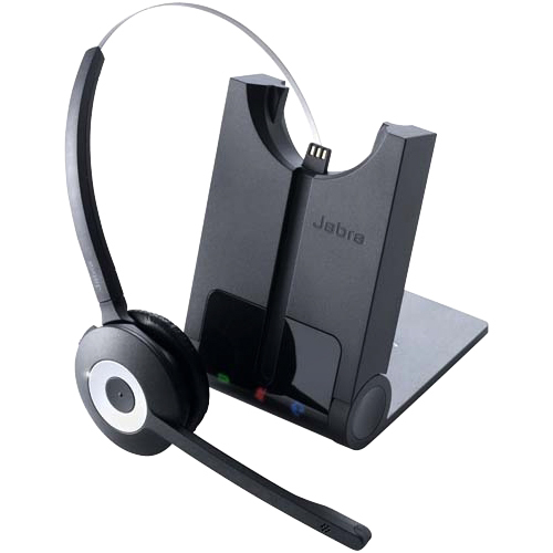 Jabra PRO 930 Wireless Over-the-head Mono Headset - Open - 99.1 m - DECT - 32 Ohm - 150 Hz to 7 kHz - Noise Cancelling, Electret Microphone