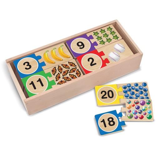 Melissa & Doug Self-Correcting Number Puzzles - 40 Piece
