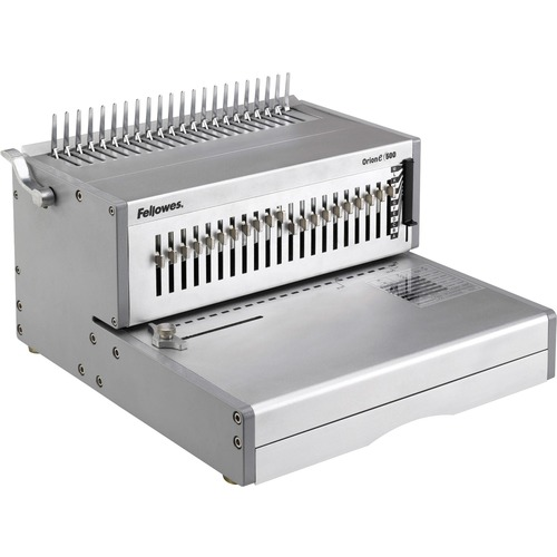 """Fellowes Orion™ E 500 Electric Comb Binding Machine - 9.75"""" (247.65 mm) x 15.75"""" (400.05 mm) x 19.75"""" (501.65 mm) - Silver"""