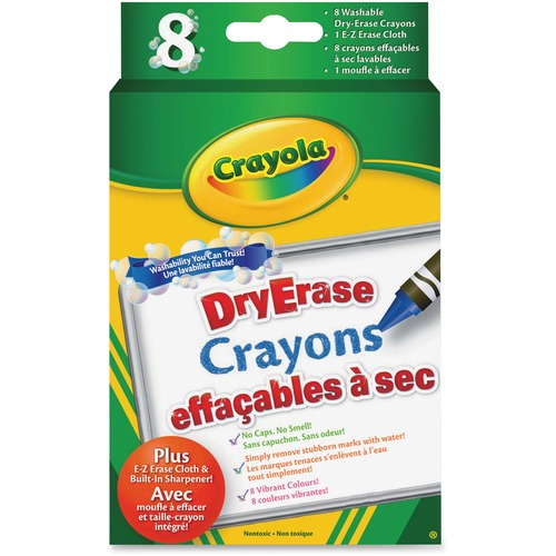 Crayola Dry-Erase Asorted Crayon - 8 / Pack