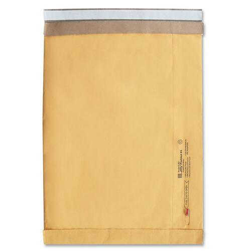 "Jiffy Mailer Self-Seal Padded Mailer - Padded - #5 - 10 1/2"" Width x 16"" Length - Peel & Seal - Kraft - 1 Each - Satin Gold"