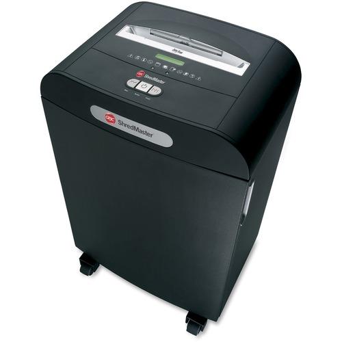 "Swingline DS22-13 Shredder - Strip Cut - 22 Per Pass - for shredding Paper, CD, DVD, Credit Card, Paper Clip, Staples - 0.3"" Shred Size - Level 2 - 4.88 m/min - 10"" Throat - 49.21 L Wastebin Capacity - Black"