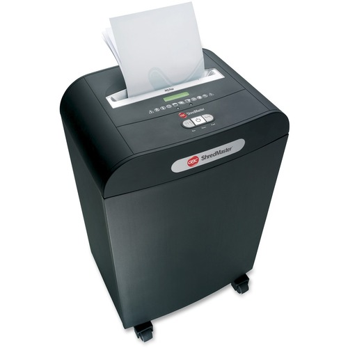 "Swingline DX20-19 Shredder - Cross Cut - 20 Per Pass - for shredding Paper, DVD, CD, Credit Card, Paper Clip, Staples - 0.2"" x 2"" Shred Size - Level 3 - 4.88 m/min - 10"" Throat - 71.92 L Wastebin Capacity - Black"